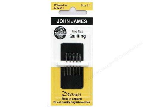 Big Eye Quilting Needles, size 11