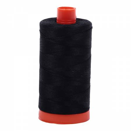 LKG: Aurifil 50 wt cotton thread, 1300m, Black (2692)
