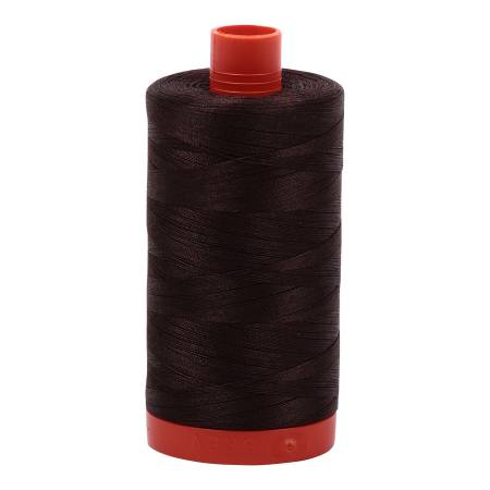 Aurifil 50 wt cotton thread, 1300m, Dark Brown (5024)