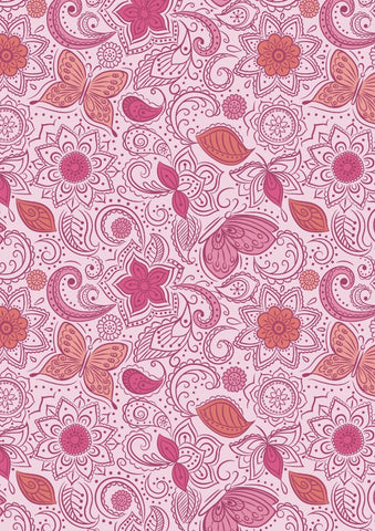 Sew Mindful - Floral Flow on Peaceful Pink - A261.2
