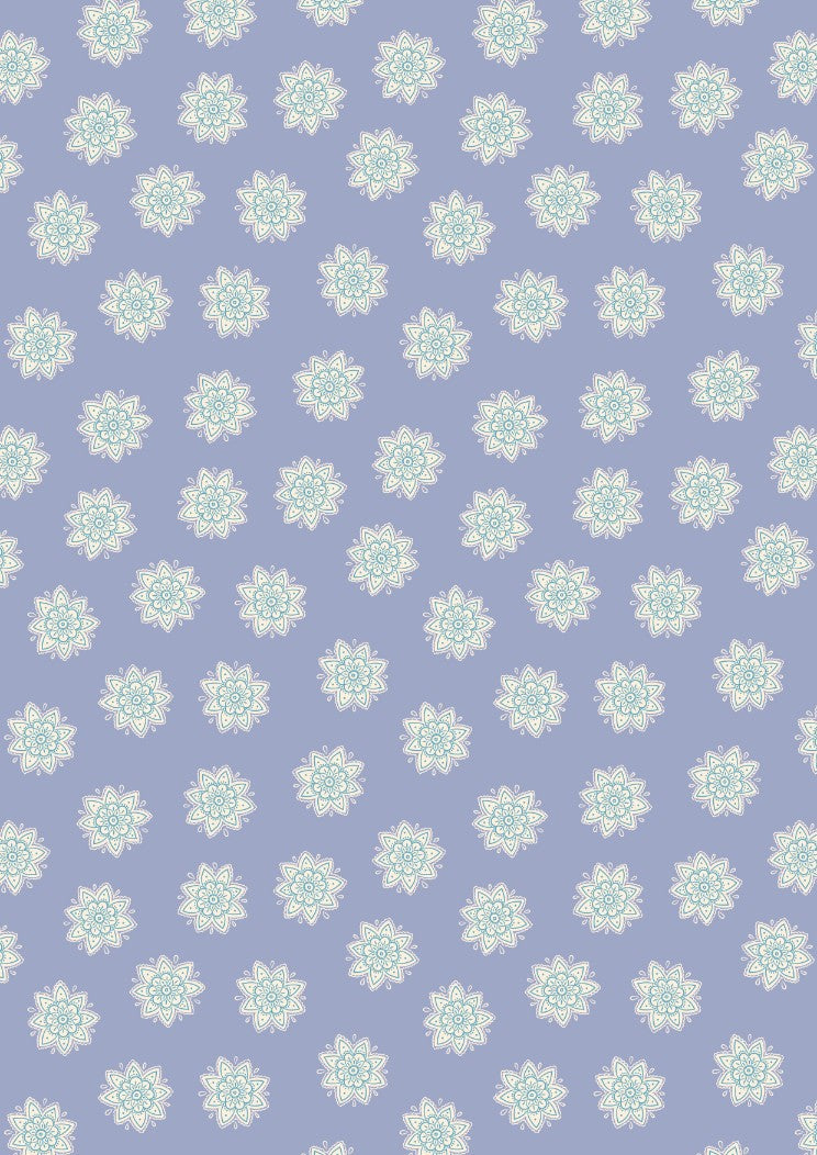 Sew Mindful - Flower Mandalas on Lilac - A264.1