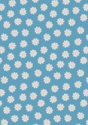 Sew Mindful - Flower Mandalas on Blue - A264.3