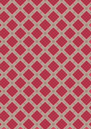 Celtic Reflections - Red Check with Silver - A338.2