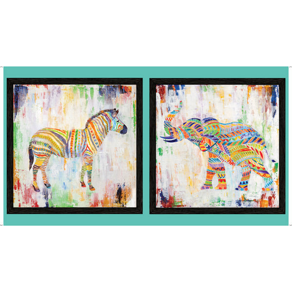 "Artworks XIII - Rainbow Animal Panel in Multi - 1649-27313-X - SOLD AS A 23"" PANEL"