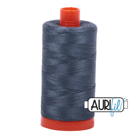 Aurifil 50 wt cotton thread, 1300m, Medium Grey (1158)