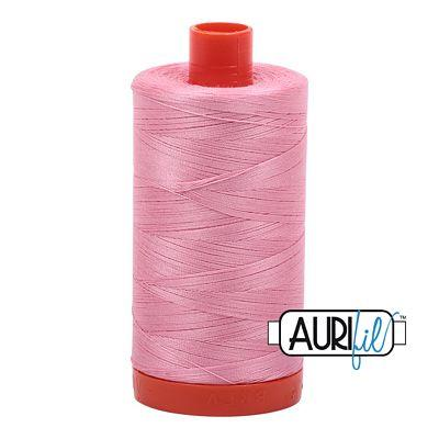 Aurifil 50 wt cotton thread, 1300m, Bright Pink (2425)