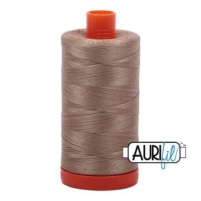 Aurifil 50 wt cotton thread, 1300m, Linen (2325)