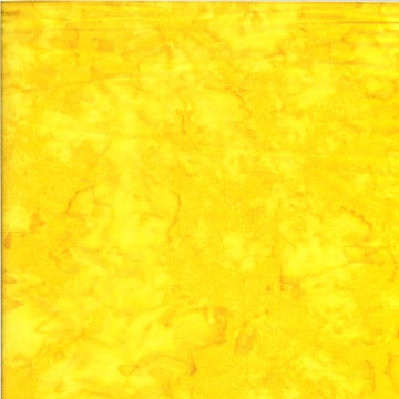 Batik Textiles Quilt Fabric - Blender in Lemon Yellow - 6051B