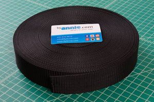 "By Annie Polypro Strapping - 1 1/2"" Black - SUP16415B50YD"