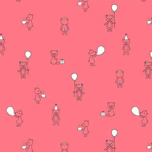Celebrate Quilt Fabric - Bear Cubs in Shell Pink - DH8819-SHEL-D