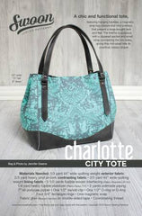 Charlotte City Tote Bag Pattern by Swoon - SWN004