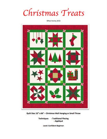 Christmas Treats Quilt Pattern by Rosi Hanley