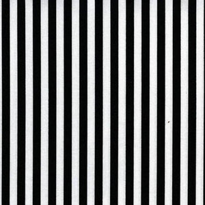 Clown Stripe Quilt Fabric - Black and White Stripe - CX3584-WHIT-D