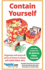 Contain Yourself Fabric Storage Bin Pattern By Annie - PBA274