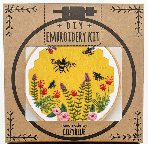 Cozyblue Handmade Embroidery Kit - Bee Lovely - DEKBL