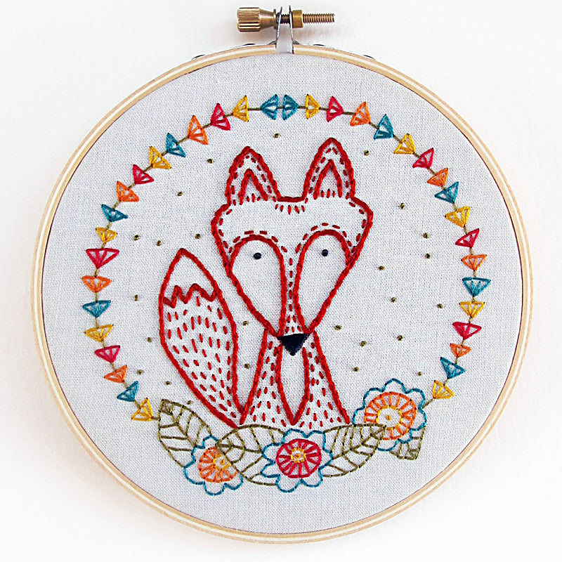 Cozyblue Handmade Embroidery Kit - Crafty Fox - DEKCF