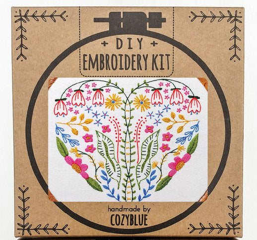Cozyblue Handmade Embroidery Kit - Full Heart - DEKFH