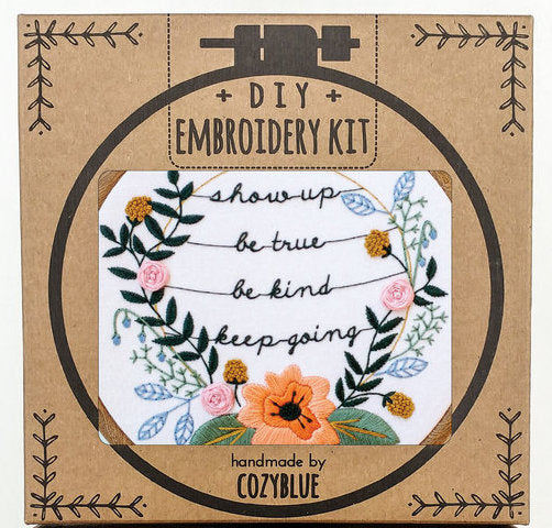 Cozyblue Handmade Embroidery Kit - Show Up - DEKSU