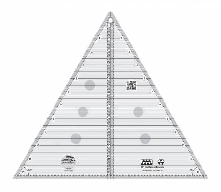 Creative Grids 60 Degree Triangle Ruler  - 12