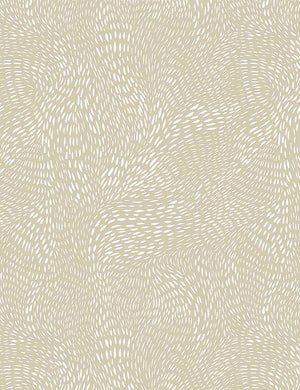 Dash Flow Quilt Fabric - Wheat Tan/Cream - STELLA-SRR1300 WHEAT