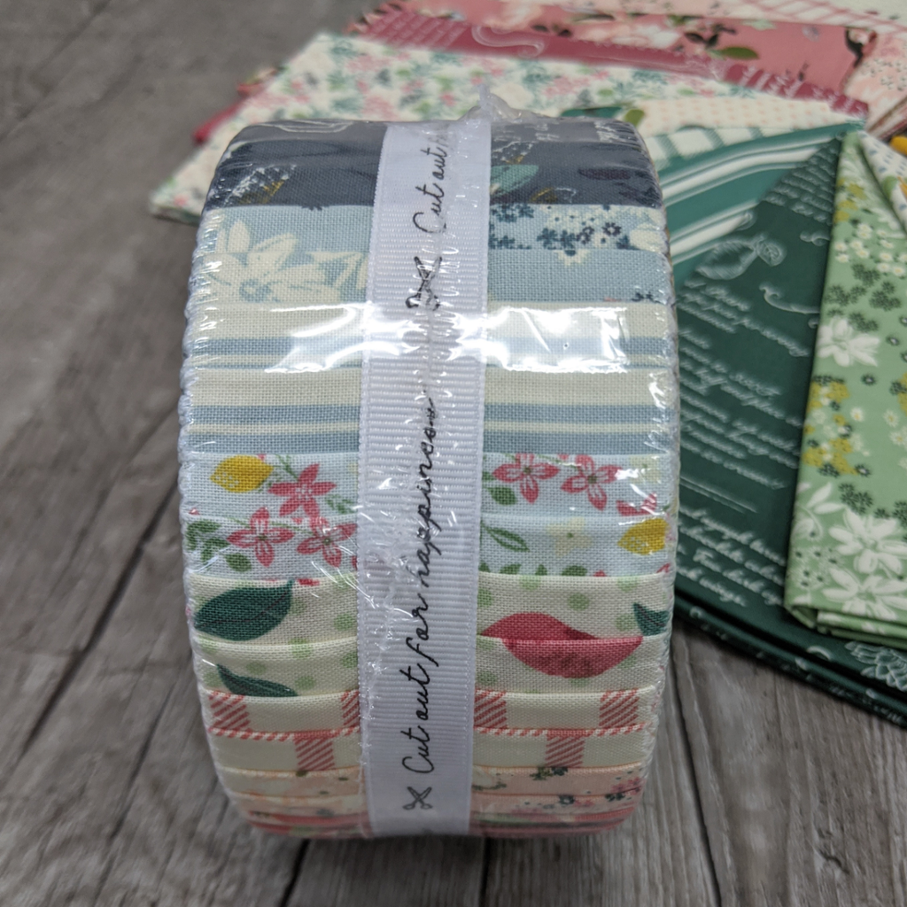 "Farmhouse Sun Quilt Fabric - Jelly Roll - set of 40 2 1/2"" strips"