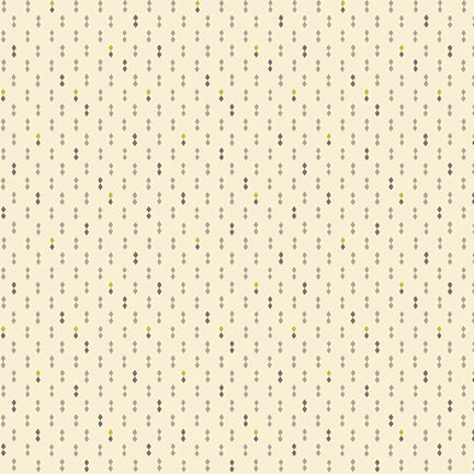 Gratitude and Grace Quilt Fabric - Double Diamonds in Cream - 9414-40