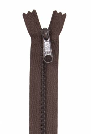 "Handbag Zipper, 24"", Single Slide By Annie - Sable Brown - ZIP24-145"