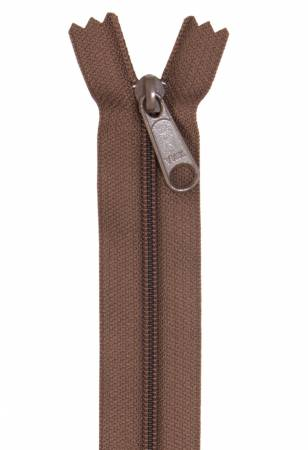 "Handbag Zipper, 24"", Single Slide By Annie - Seal Brown - ZIP24-140"