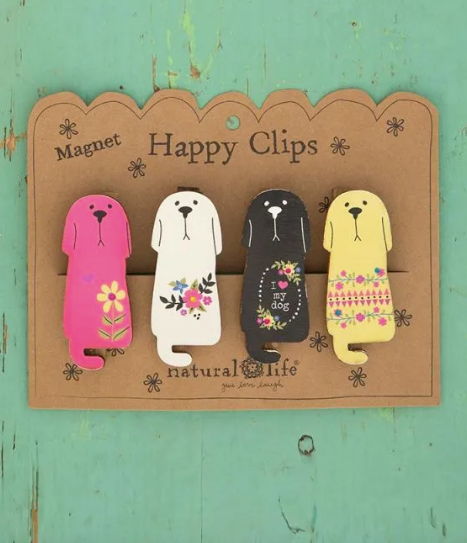 Happy Clip Magnetic Clips - I Love My Dog - set of 4 - CHCL072