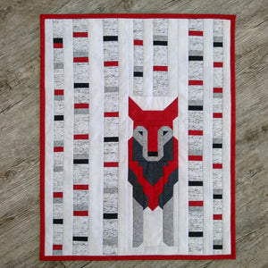 Wolf in the Woods Quilt Pattern - SFQ-WLF