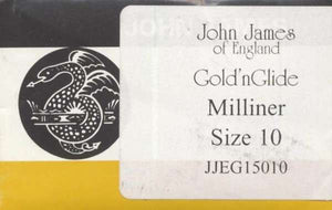 Milliners / Straw Gold'N Glide Needles, size 10 - JJEG150 10