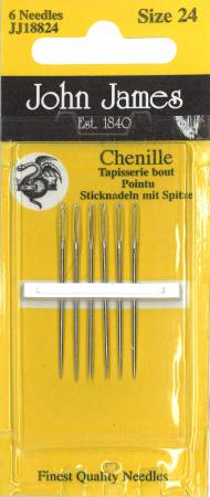 John James Chenille Needles Size 24, pack of 6  - JJ188-24