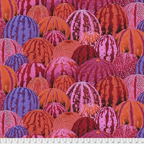 Kaffe Fassett Collective August 2020 Quilt Fabrics - Watermelons in Red - PWPJ103.RED