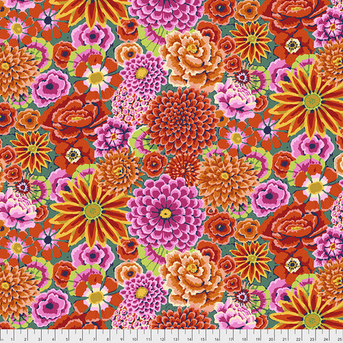 Kaffe Fassett Classics Fabric - Enchanted Floral in Red - PWGP172.REDXX