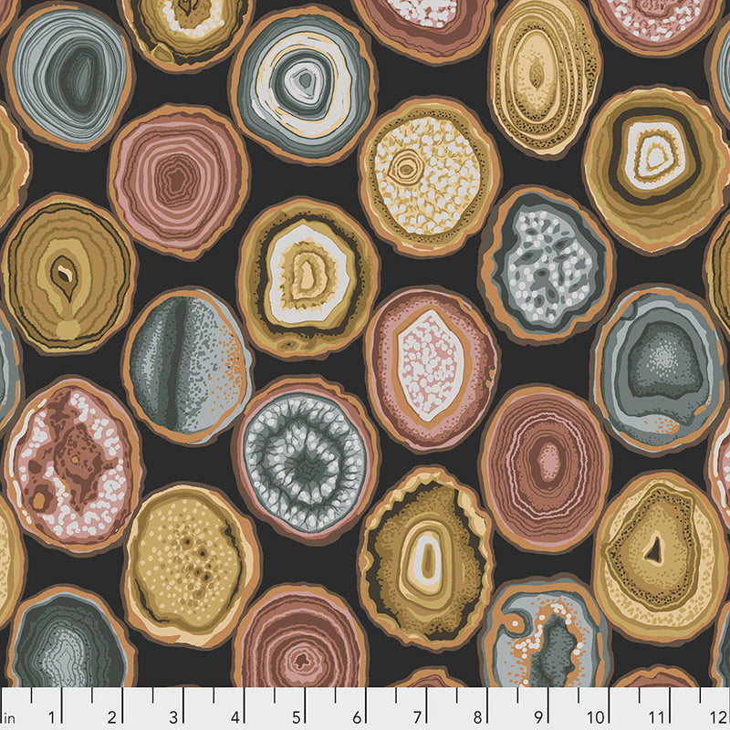 Kaffe Fassett Collective February 2020 Quilt Fabric - Geodes in Charcoal - PWPJ099.CHARCOAL