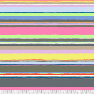 Kaffe Fassett Collective February 2020 Quilt Fabric - Promenade Stripe in Contrast (Grays/Pinks) - PWGP178.CONTRAST