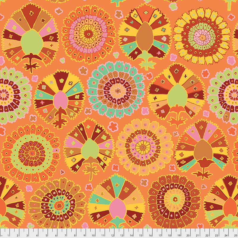 Kaffe Fassett Collective Spring 2019 Quilt Fabric - Turkish Delight in Gold - PWGP081.GOLD
