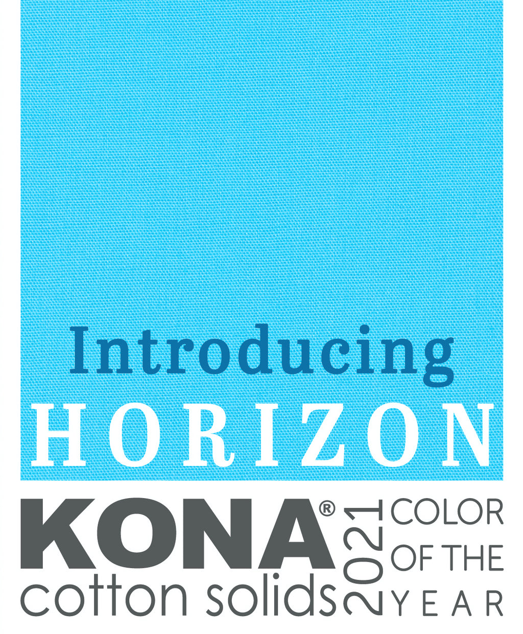 Kona Cotton Solid in Horizon Blue - K001-1914 - Kona Color of the Year 2021