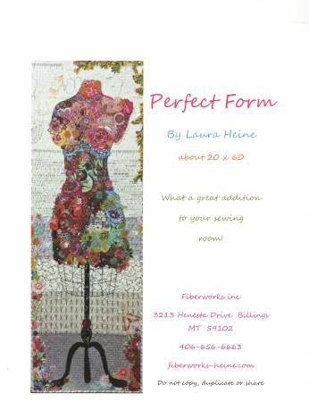 Perfect Form Collage Quilt Pattern by Laura Heine - LHFWPF