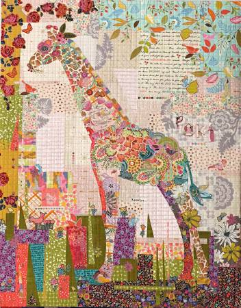 Poki Mini Giraffe Collage Quilt Pattern by Laura Heine - LHFWPOKI