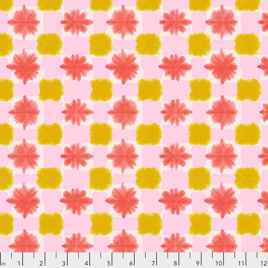 Long Distance Quilt Fabric - Tokyo Dreams Abstract in Parfait Pink - PWCO004.PARFAIT