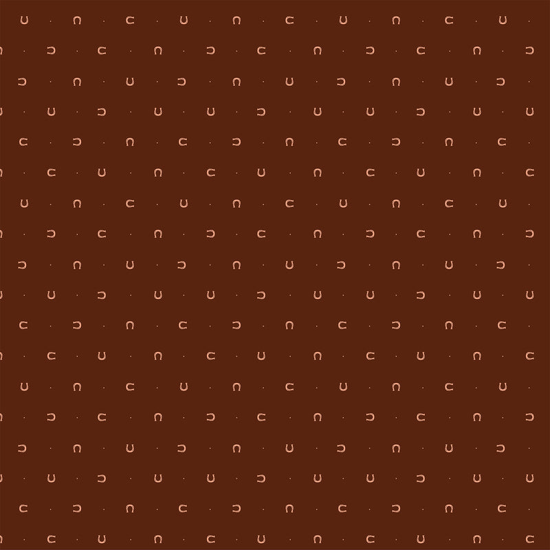 Lucky Charms Quilt Fabric - Horseshoes in Dark Brown with Bronze - 92005M-36