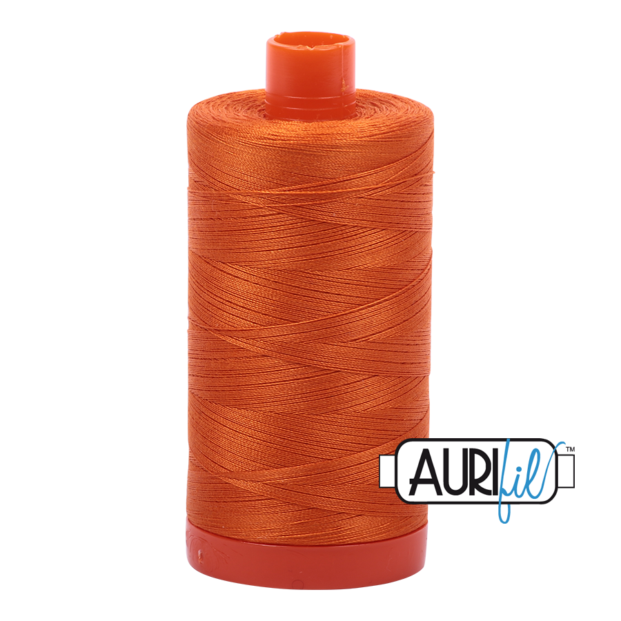 Aurifil 50 wt cotton thread, 1300m, Pumpkin (2150)