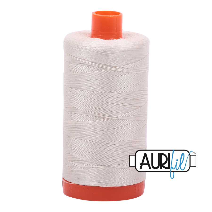Aurifil 50 wt cotton thread, 1300m, Aluminum (2615)