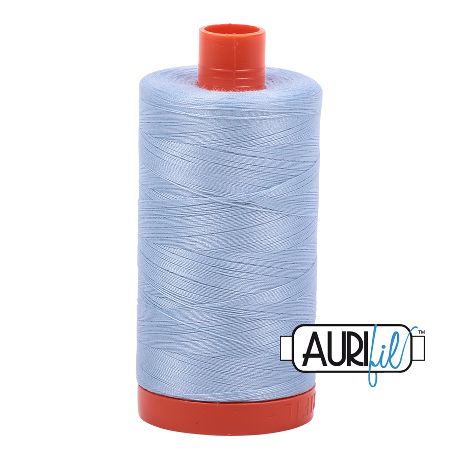 Aurifil 50 wt cotton thread, 1300m, Light Robin's Egg (2710)