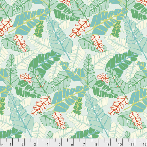 Marabella Quilt Fabric by Amy Reber - Fronds in Seafoam Green - PWAR033.MONARCH