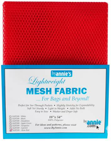 Mesh - Lightweight ByAnnie, 18 in x 54 in - Atomic Red - SUP209-RED