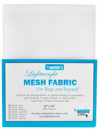 Mesh - Lightweight ByAnnie, 18 in x 54 in - White - SUP209-WH