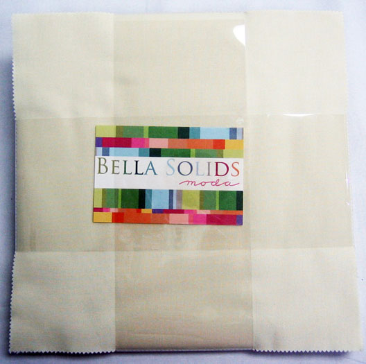 "Moda Bella Solids Layer Cake in Snow - 42 10"" squares - 9900LC 11"