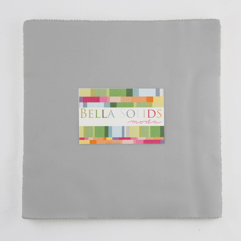 "Moda Bella Solids Quilt Fabric - Gray Junior Layer Cake - 20 10"" squares - 9900JLC 183"